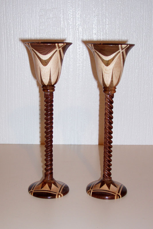 Pair of Star Centre Goblets (handed)