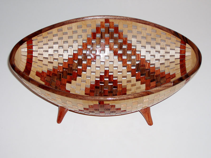 Oval Open Segmented Bowl