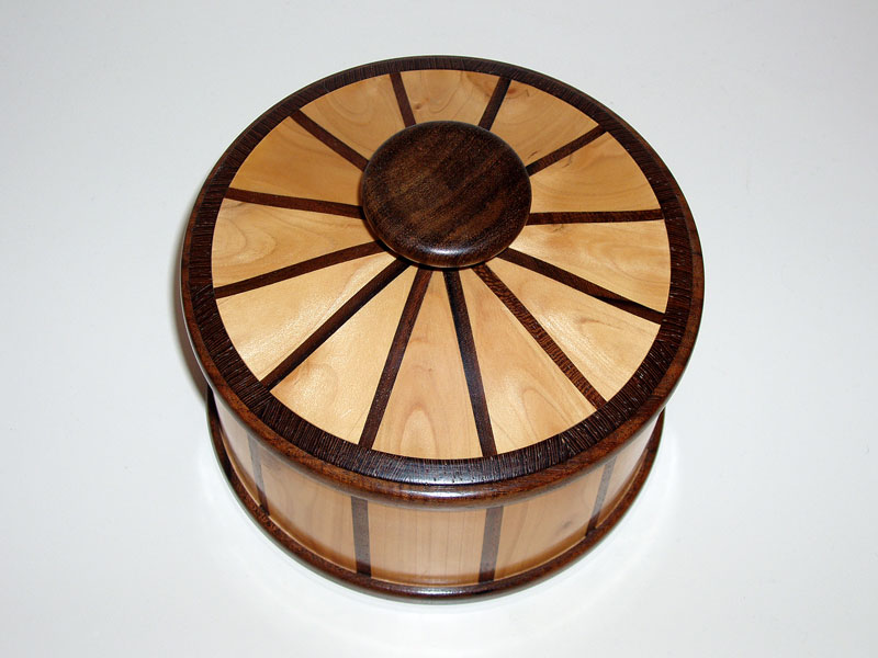 'Hedge' Wood & Walnut Lidded Vessel