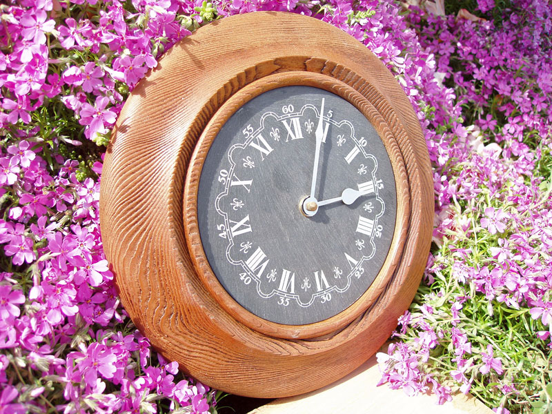 Sandblasted & Waxed Pine Clock