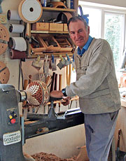 Bill working on his lathe