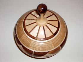 Scooped Base Lidded Vessel