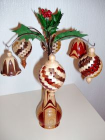 'Xmas Decorations' in a Bud Vase