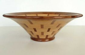 Oak & Walnut Segmented Bowl