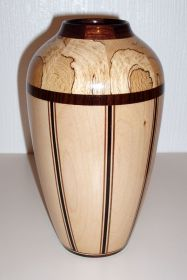 Spalted Beech & Maple Vase