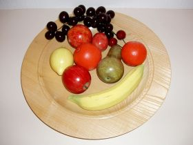 Coloured Wooden Fruit